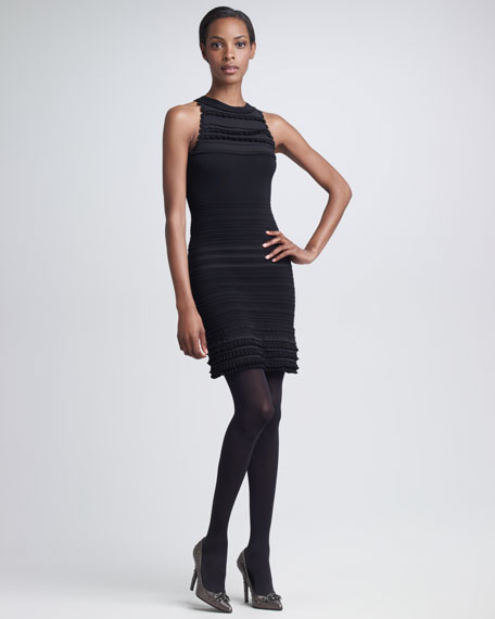 Sleeveless Tiered Sheath Dress