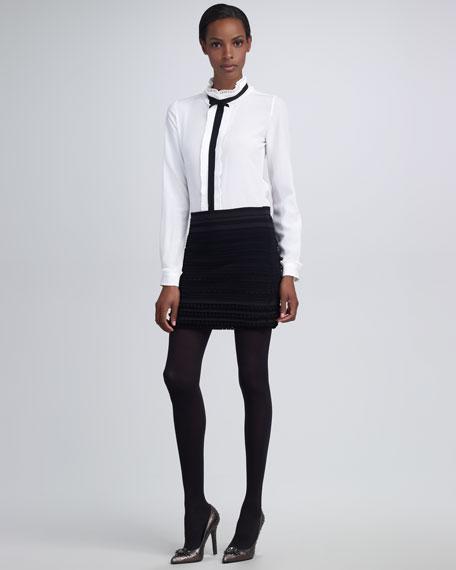 Formfitting Ruffle Skirt