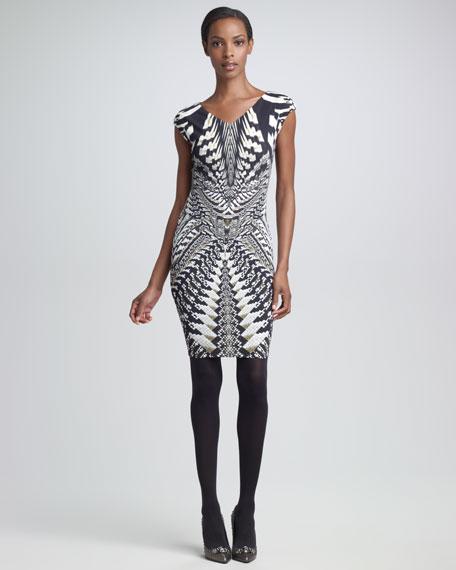 Geometric Python-Print Dress