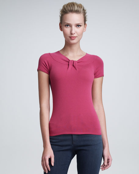 Knot-Neck Knit Top