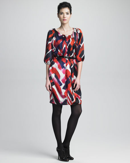 Abstract-Print Dress