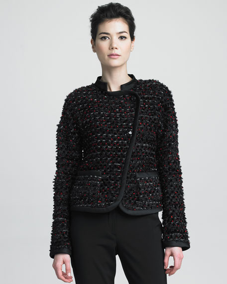 Asymmetric Tweed Jacket