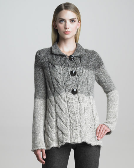 Cabled Cardigan Jacket