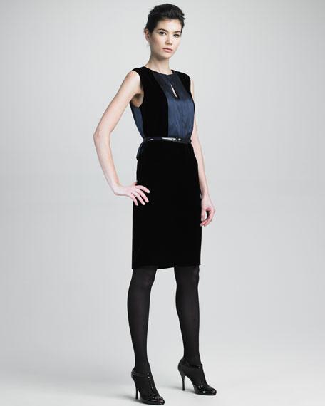 Velvet/Satin Combo Dress