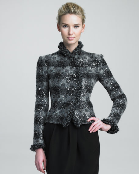 Sequined Knit Jacket