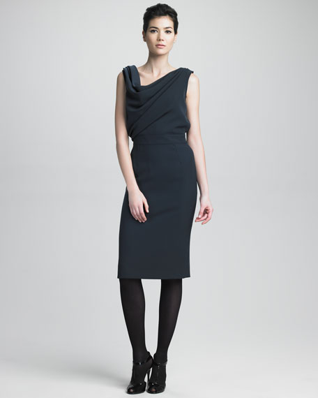Reverse Cowl-Neck Dress