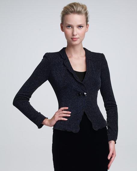 Glittered Jersey Jacket
