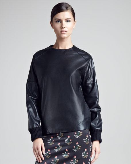 Leather Sweatshirt