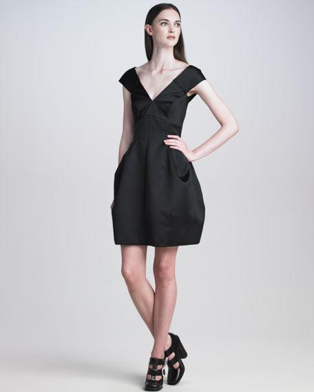Off-Shoulder Duchesse Satin Dress