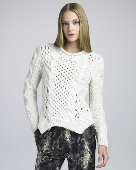 Cable-Knit Merino Sweater