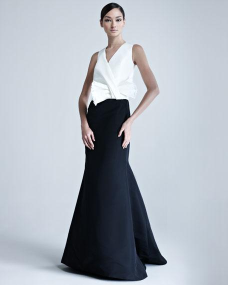Silk Faille Combo Gown