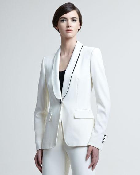 Bracha Shawl-Lapel Tuxedo Jacket