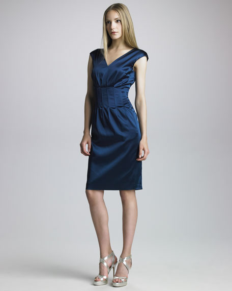 Dzemila Duchess Satin Dress