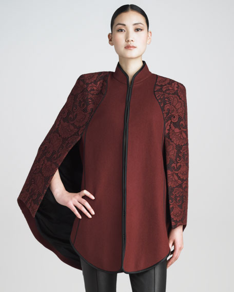 Lace-Overlay Cape