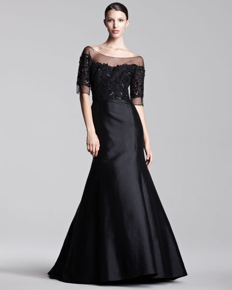 Tulle-Top Gown