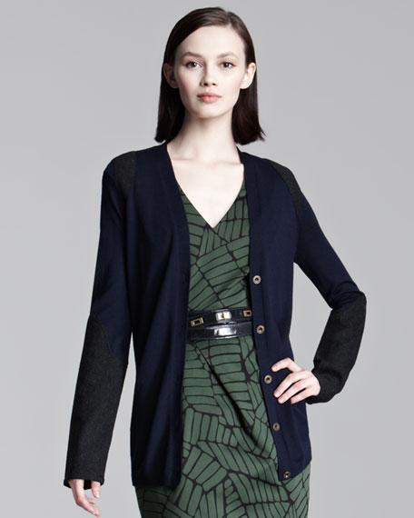 Wool Combo Cardigan