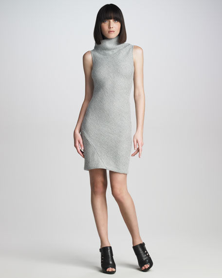 Neck-Wrap Knit Dress