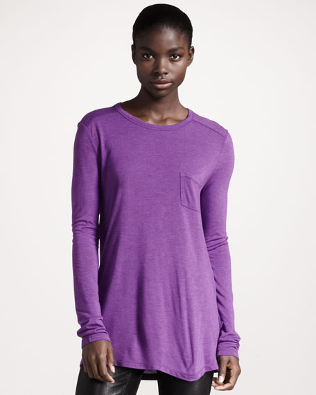 Classic Long-Sleeve Tee, Orchid