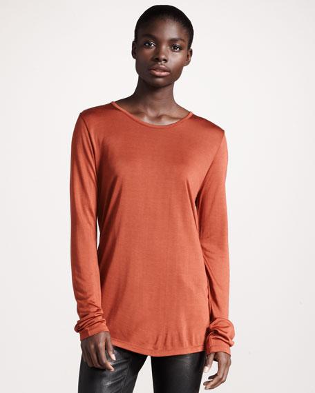 Shiny Jersey Pullover