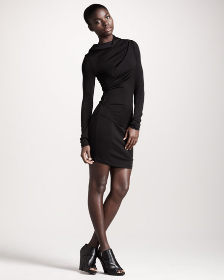 Hooded Long-Sleeve Dress