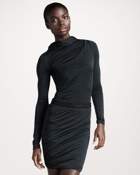Marled Twisted Skirt