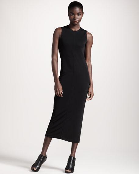 Drape-Back Jersey Dress