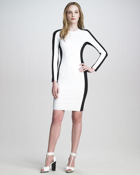 Ponte-Jersey Shadow Dress