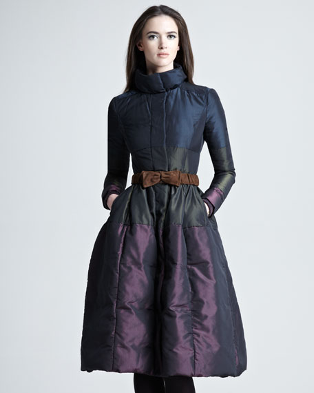 Flared Taffeta Coat