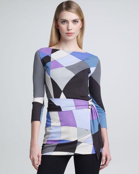 Geometric-Print Marilyn Tunic