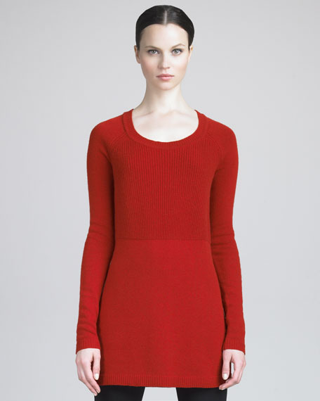 Ribbed-Knit Tunic