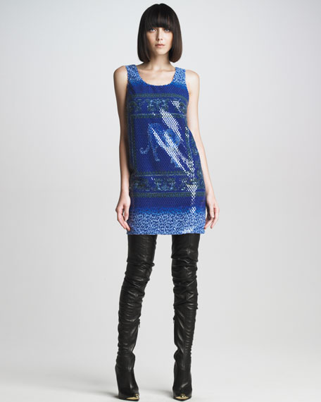 Sequined Mosaic Dress