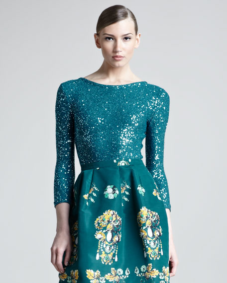 Sequined Pullover