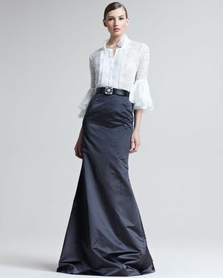 Satin Fishtail Skirt