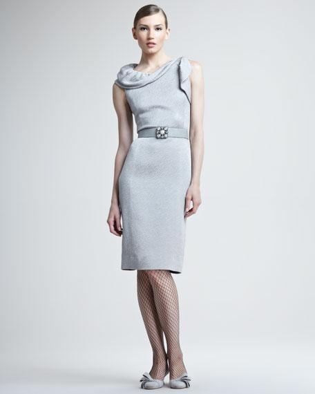 Silk Wool Jacquard Dress