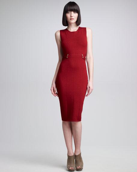 Banded-Side Sheath Dress