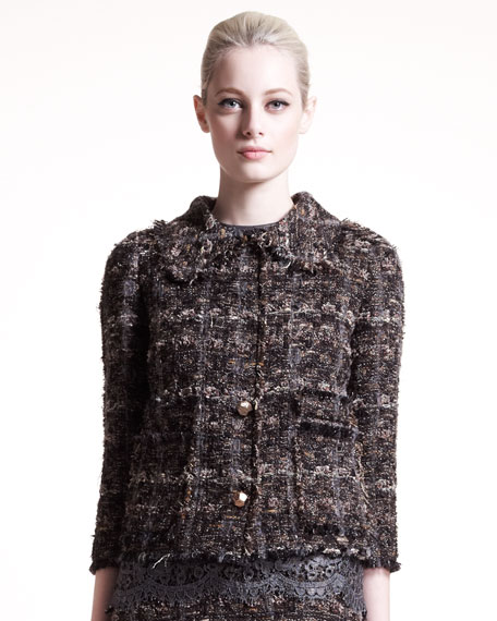 Cropped Tweed Jacket