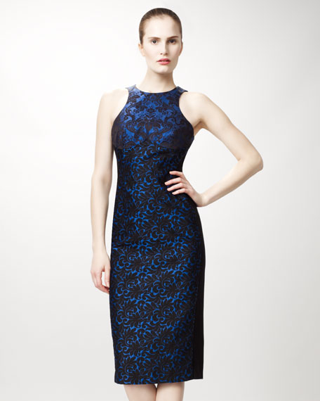 Ottavia Contoured Brocade Dress