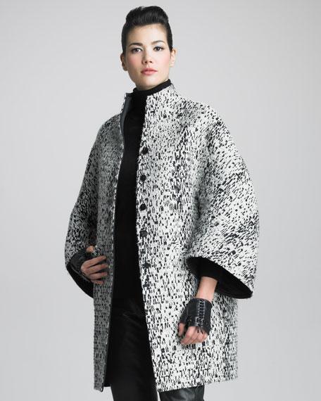 Reversible Tweed Coat