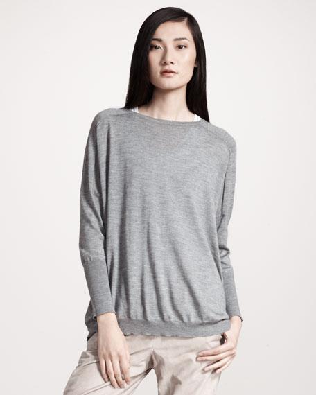 Oversized Cashmere/Silk Pullover
