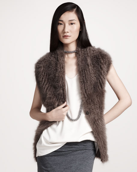 Fur Halter Sweater