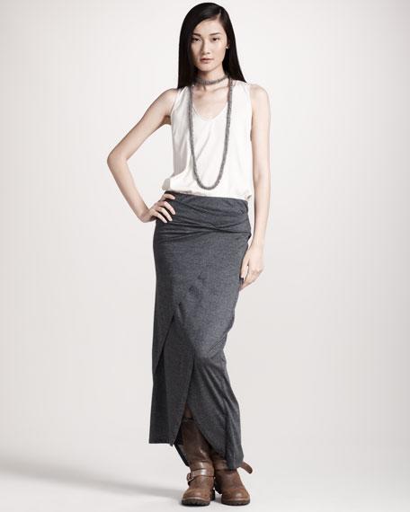 Long Wool Jersey Skirt