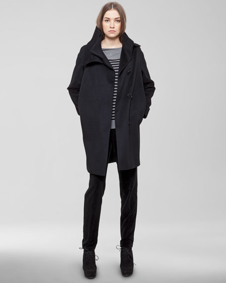 Detachable-Collar Coat