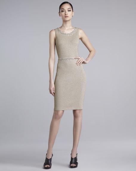 Shimmer Melange Sheath Dress