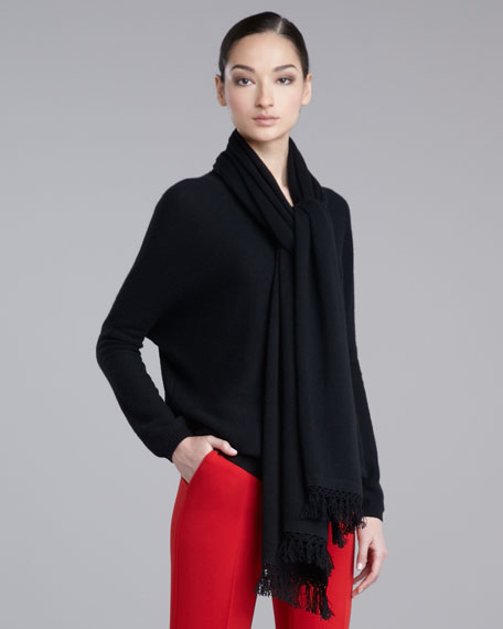 Micro-Link Cashmere Scarf