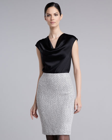 Frisse Tweed Pencil Skirt