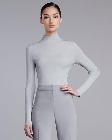 Fine-Gauge Ribbed Sweater