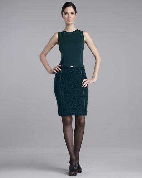 Milano Boucle-Bottom Dress