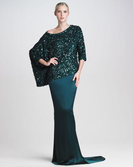 Liquid Satin Fishtail Gown Skirt
