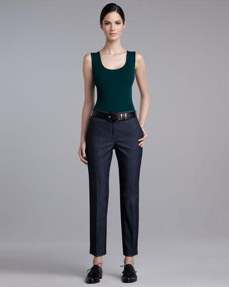 Emma Cropped Indigo Jeans