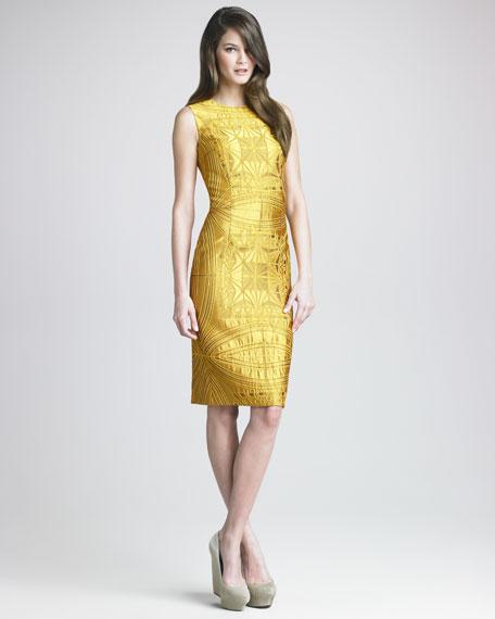 Vault Brocade Sheath Dress